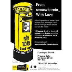 """My drawing will be at @somewhereto_ With Love's travelling postcard exhibition! On the following dates please do check them our if you're local you'll be…"""