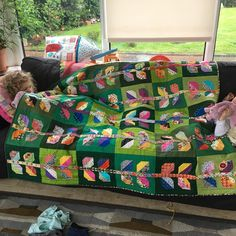 Favourite quilt I ever made . Pattern from #farmgirlvintage.