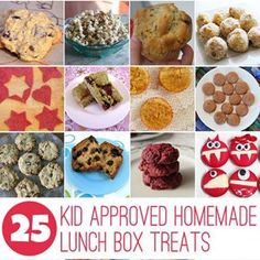 Do you like to make homemade lunch box treats for your kids? These 25 recipes are easy to make and kid approved! Lunch Box Recipes, Dog Food Recipes, Lunchbox Ideas, Cupcake Recipes, Meals Kids Love, Cooking With Kids, Whats For Lunch, Homemade, Recipe Ideas