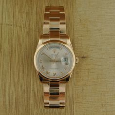Rolex 18k Rose Gold Day-Date Watch