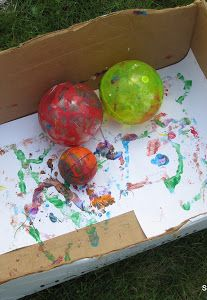 Painting with Bouncy Balls