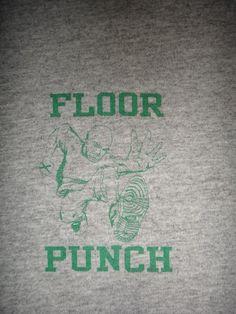 Vintage Floorpunch Straight Edge T Shirt Hardcore New Jersey NYHC 1990s