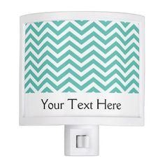 Blue Chevron Zig Zag Pattern Personalized Night Light more personalized night lights at www.mouseandmarker.com