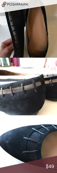 Calvin Klein flats Edria kid suede rubber raffia flats.                            DON'T FORGET Bundle with 3 or more items and get 15% off 😀 Calvin Klein Shoes Flats & Loafers