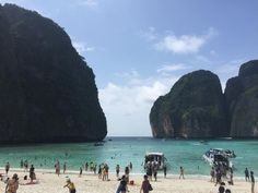 Phi Phi Islands (party island, crowded during tourist season) - Krabi Town, Thailand