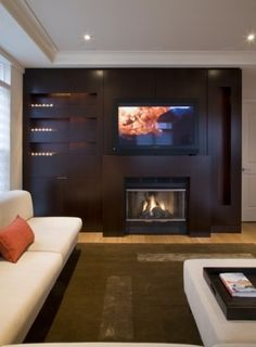 gorgeous fireplace and surround.