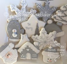 https://flic.kr/p/PAi49y | 2016 Winter White Cookies. #SnowmanCookies #SnowflakeCookies #MittenCookies #SantaCookies #WinterCookies #BeMerry #SweetsSceneBakery #ChristmasCookies #ChristmasTreeCookies #GingerbreadCookies #WinterWhites