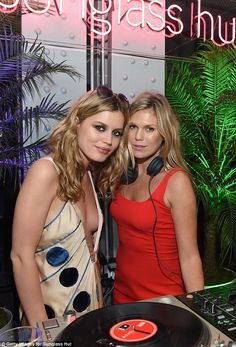 Rock royalty: Also getting into the summer fun was Alexandra Richards, who is the daughter...
