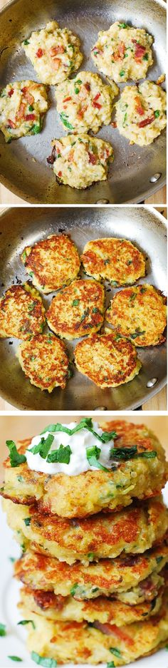 Quinoa, Spaghetti Squash, and Bacon Fritters - perfect snack, breakfast, or lunch! This might become your favorite way to eat quinoa or spaghetti squash! Gluten free recipe!
