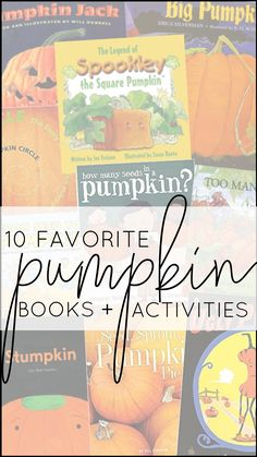 I'm sharing TEN of my favorite pumpkin books and activities that will fit right into your curriculum whether you teach pre-k, kindergarten, first grade, or second grade. Each book shown below matches with a set of paired activities, so that your lesson plans are ready to roll and you can simply teach!  They're Common Core standards-aligned, focused on comprehension and vocabulary, and include three differentiated assessments. BOOM DONE