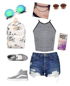 """""""First day of summer"""" by ashley1801 on Polyvore featuring Herschel Supply Co., Topshop, Miss Selfridge and Vans"""