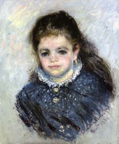 Portrait of Jeanne Serveau by @claude_monet #impressionism