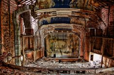 Opened in 1925 and designed by John Eberson is the Gary Palace Theatre, Indiana