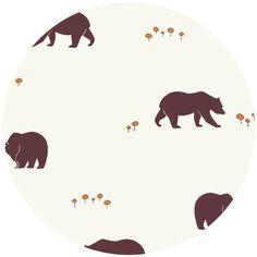 Jay-Cyn Designs for Birch Organic Fabrics, Camp Sur, Bears Camp (fabricworm.com)
