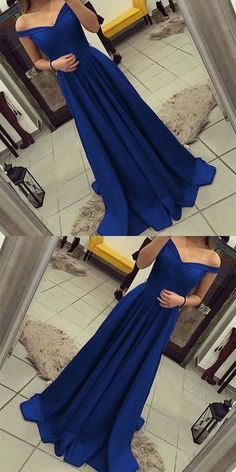 long prom dresses - Off Shoulder Bridesmaid Dress,long Satin Gowns,royal Blue Prom Dress,royal Blue Evening Gowns,prom Dresses 2018 Elegant Prom Dresses, Prom Dresses 2018, Trendy Dresses, Nice Dresses, Evening Dresses, Formal Dresses, Dress Prom, Dresses Dresses, Dresses Online