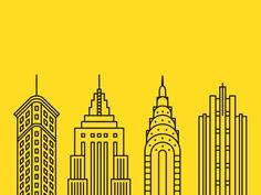 Buildings of New York City: Flatiron, Empire State, Chrysler, Rockefeller