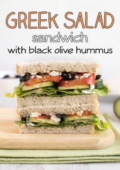 ... feta cheese, cucumbers, tomato... and an easy homemade black olive