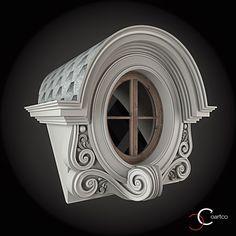 Ornamente Geamuri Rotunde Exterior Cod: WIN-095