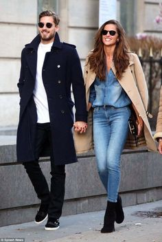 Love is in the air:Izabel Goulart stepped out with her boyfriend Kevin Trapp in Paris on ...