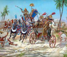 Egyptian vs Hittite Chariot Battle