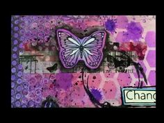 Change For No One... Art Journal Page... Mixed Media - YouTube