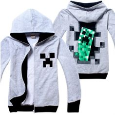 Minecraft Creeper Hooded Zip Fleece (3 Colors)