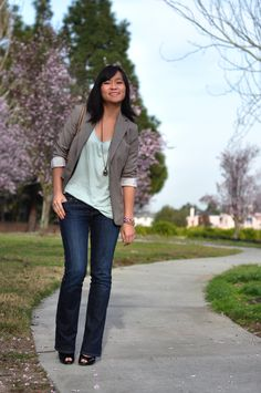 Skinny jeans hochkrempeln