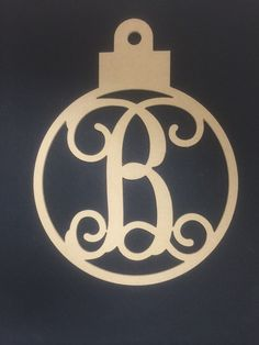 """22"""" Tall Unfinished Ornament Monogrammed Letter of Your Choice A"""