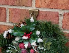 #HolidayTip use a Brick Clip to hang a festive Christmas wreath - Holder - Hanger - Winter - Decoration Hardware - Seasonal - Made in the USA