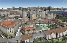 Belgrade downtown 3D