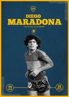 El Diego. La Boca Legend.