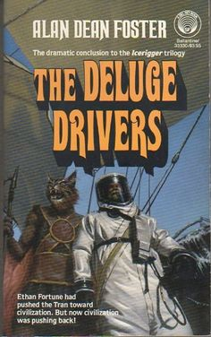 MICHAEL HERRING - art for The Deluge Drivers by Alan Dean Foster - 1987 Del Rey / Ballantine Books