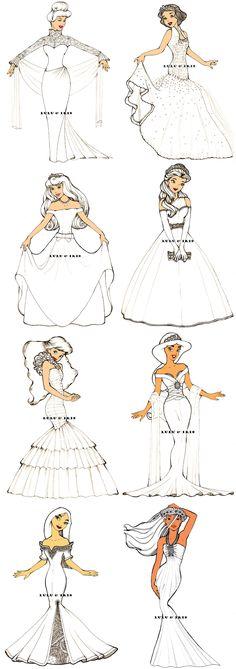 Disney Princess Wedding Dresses by lulu-ibeh.deviant... on @deviantART