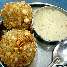 Restaurants and Restaurant Reservations Sabudana Vada, Melting In The Mouth, Green Chutney, Restaurant Reservations, Coriander Leaves, Frying Oil, Red Chili, Fine Dining, Free Food