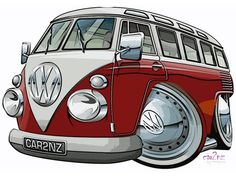 vw bus cartoon pictures | Galerie - Détail de la photo
