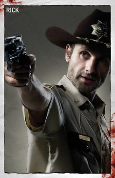 Walking dead poster of Rick Grimes