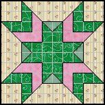 Quilts To Be Stitched - Ten patch quilt patterns-Wood Lily/Indian Head