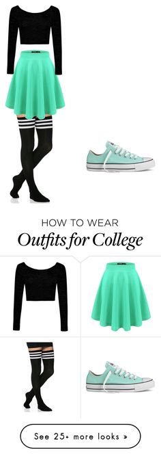 """""""Sin título #1351"""" by maneirojosemith on Polyvore featuring Boohoo and Converse"""