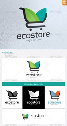 Eco Store - Logo Design Template Vector #logotype Download it here: http://graphicriver.net/item/eco-store/4734516?s_rank=1510?ref=nexion