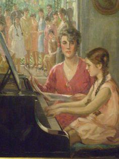 Lição de Piano (Piano Lesson), 1928. Georgina de Albuquerque (Brazil, 1885-1962). Oil on canvas. Pinacoteca do Estado de São Paulo.