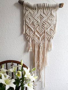 Polka_knot macrame wall hanging