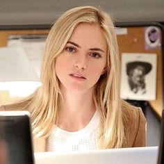 """Emily Wickersham opens our interview with a playful, clandestine whisper: """"Jake and Gibbs are having a secret relationship."""" Jake (played by guest star Jamie Bamber), of course, is the husband of Wickersham's NCIS character, probationary Special Agent Ellie Bishop. Gibbs, her boss. And Wickersham is teasing the """"light runner,"""" as they say,in this Tuesday's episode"""