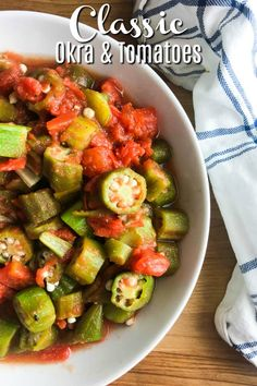 Best Tomato Recipes Okra and Tomatoes Recipe Okra Recipes, Turkey Recipes, Vegetable Recipes, Vegetarian Recipes, Cooking Recipes, Healthy Recipes, Healthy Southern Recipes, Soup Recipes, Healthy Food