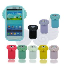 Angel wings Stand Silicone Soft Cover Case For Galaxy Samsung S3 i9300 skybessmall.com