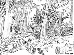 amazon jungle coloring pages - Google Search