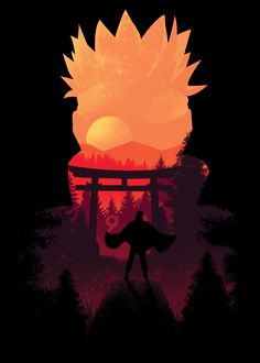 Naruto Sunset poster by from collection.