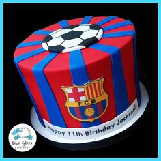 fcb soccer birthday cake nj Best Picture For america Soccer Cake For Your Taste You are looking for Soccer Theme, Soccer Party, Football Birthday Cake, Boy Birthday, Cake Birthday, Bolo Do Barcelona, Fcb Barcelona, Buttercream Birthday Cake, Sport Cakes