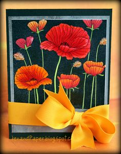 Jen and Paper: I love the colors used on this Hero Arts Poppy Stamp