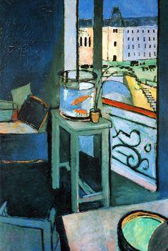 Henri Matisse - Intérieur bocal de poissons rouges, 1914
