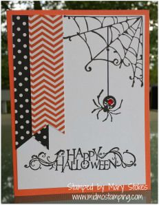 Use as card sketch. Alter and make with web doily and pop up happy spider with goggly eyes.